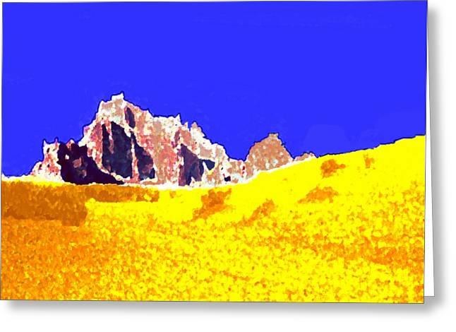 Jordan Desert. Morning Greeting Card