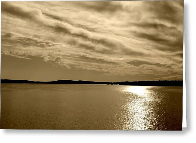 Greeting Card featuring the photograph Jordan Lake  Nc by Kelly Nowak