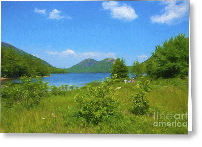 Jordan Pond Acadia National Park Greeting Card