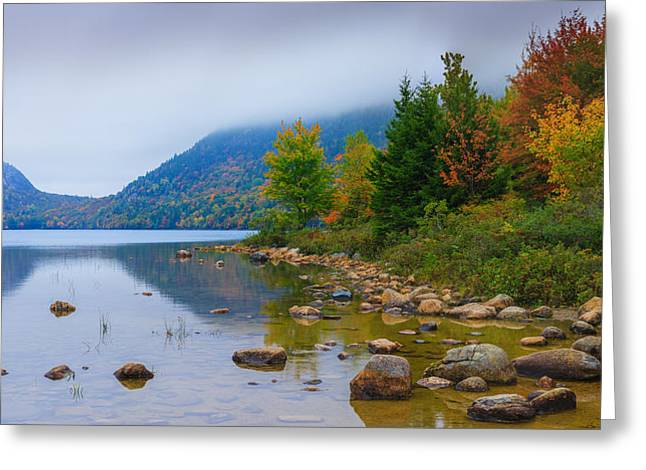 Jordan Pond In Acadia National Park Greeting Card by Henk Meijer Photography
