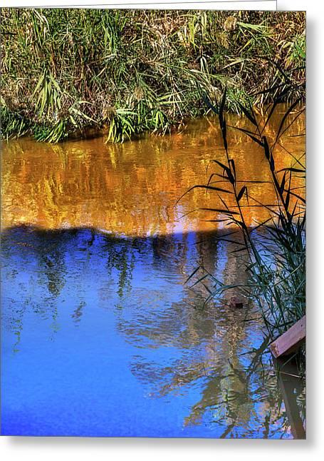 Jordan River Abstract Near Bethany Greeting Card