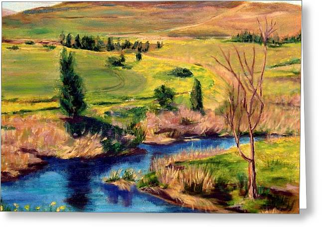 Jordan River In Israel Greeting Card by Hannah Baruchi