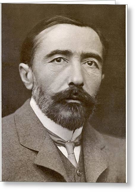 Joseph Conrad  Polish-born Writer Greeting Card by Mary Evans Picture Library