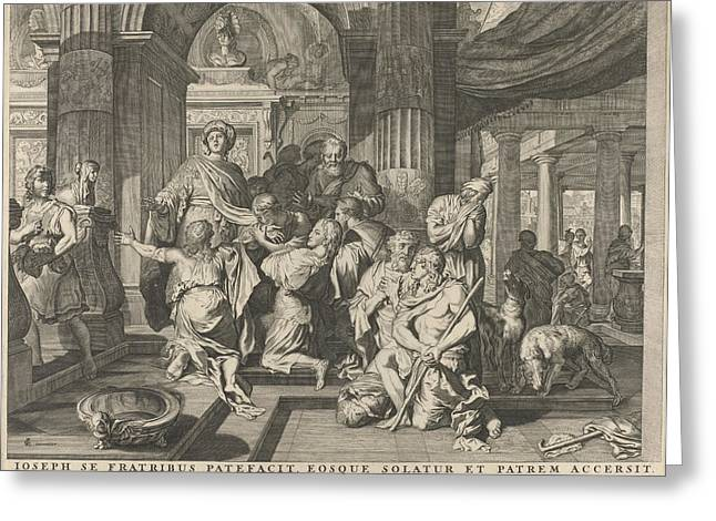 Joseph Reveals Himself To His Brothers, Anonymous Greeting Card by Nicolaes Visscher (i) And Nicolaes Visscher (ii)