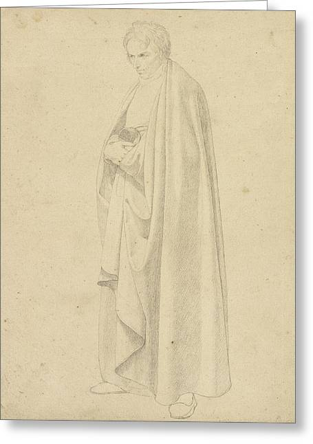 Joseph Wintergerst In A Floor-length Coat Greeting Card