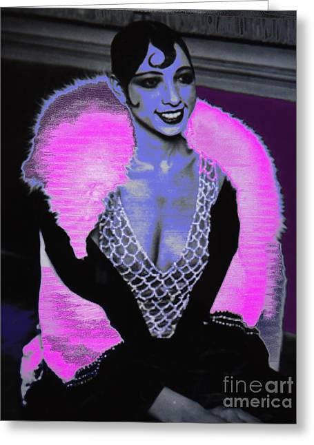 Josephine Baker The Original Flapper Greeting Card by Saundra Myles