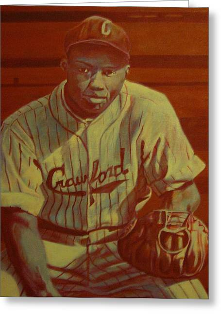 Josh Gibson Greeting Card by Paul Smutylo