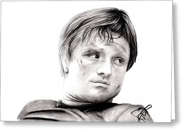 Josh Hutcherson 2 Greeting Card by Rosalinda Markle