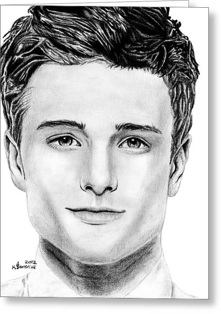 Josh Hutcherson Greeting Card by Kayleigh Semeniuk