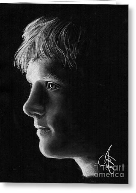 Josh Hutcherson Greeting Card by Rosalinda Markle