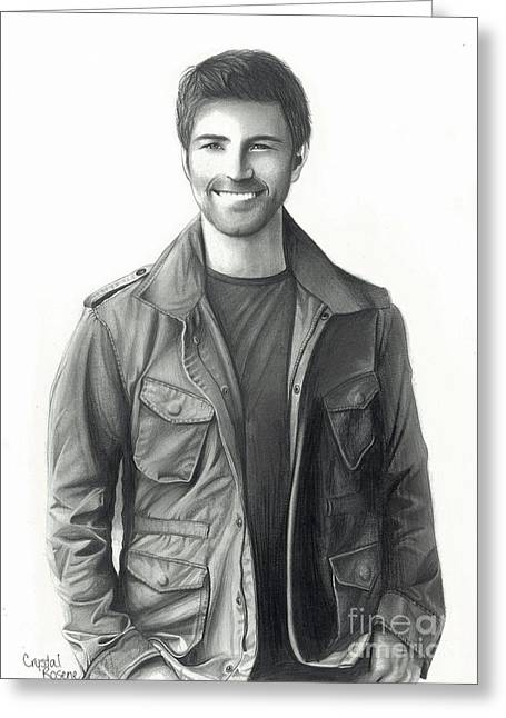 Josh Turner Greeting Card by Crystal Rosene