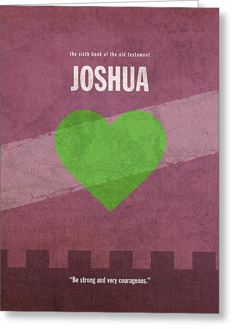 Joshua Books Of The Bible Series Old Testament Minimal Poster Art Number 6 Greeting Card by Design Turnpike