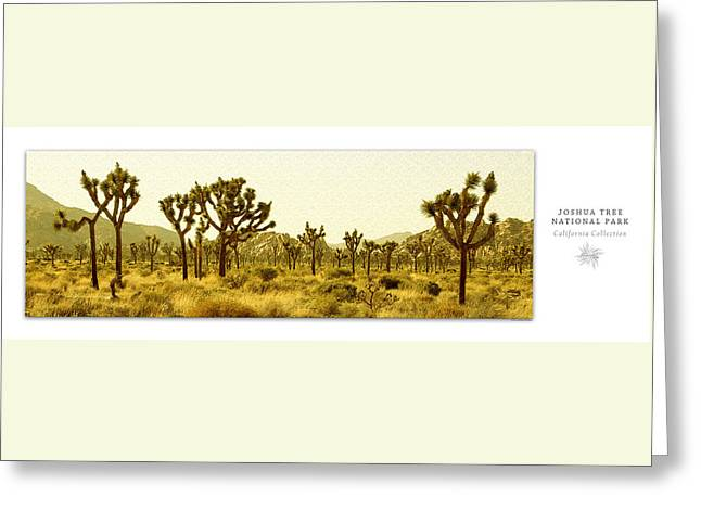 Joshua Tree National Park Art Poster - California Collection Greeting Card by Ben and Raisa Gertsberg