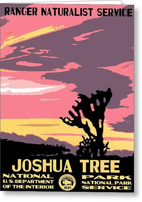 Joshua Tree National Park Vintage Poster Greeting Card