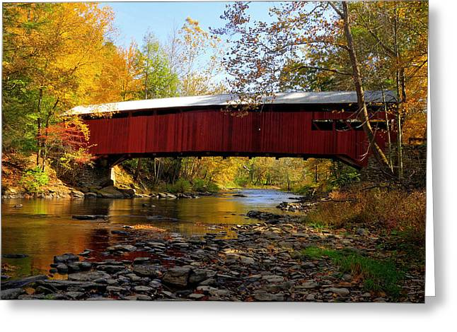 Josiah Hess Covered Bridge Greeting Card by Dan Myers