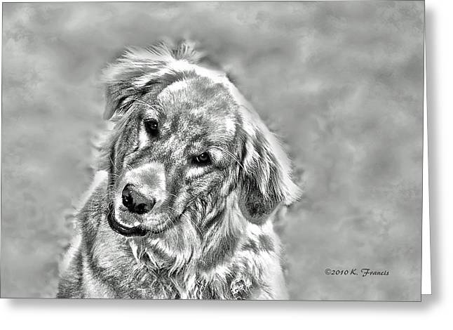 Josie Greeting Card by Kenny Francis