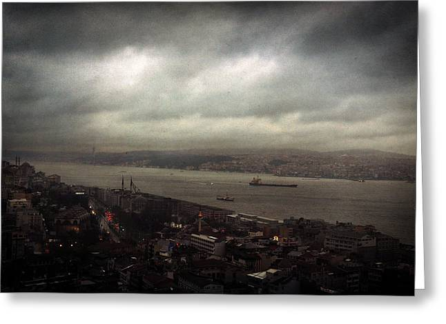 jour de pluie a Istanbul II Greeting Card