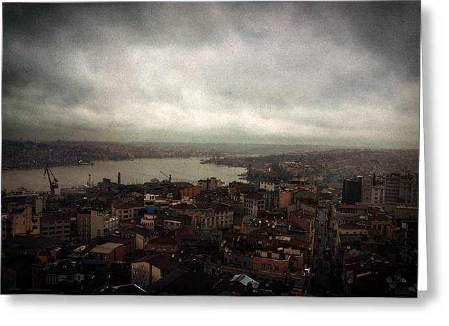 jour de pluie a Istanbul III Greeting Card