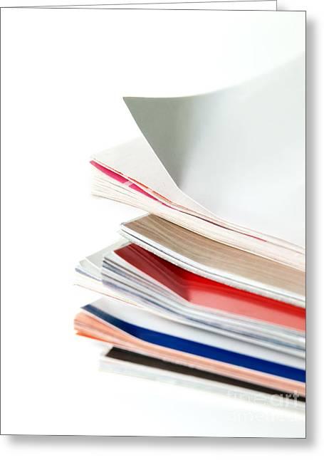 Journals Greeting Card by Sinisa Botas