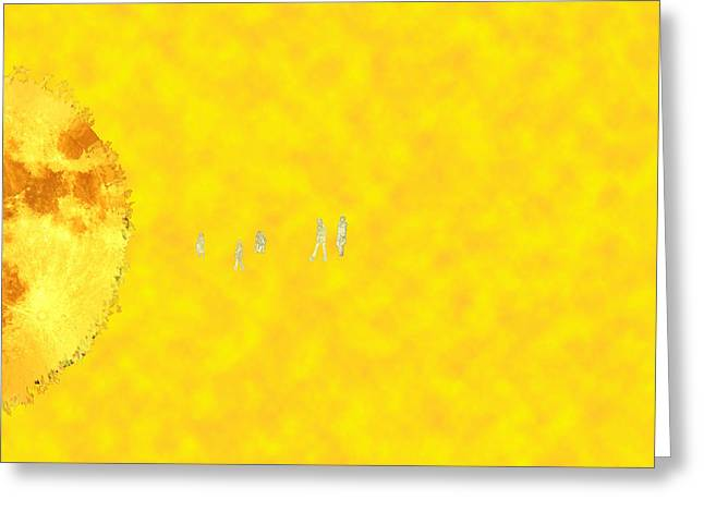 Journey Greeting Card by Bruce Iorio