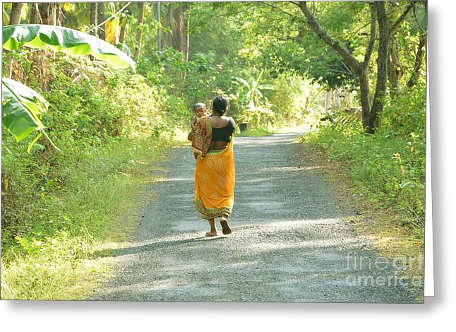 Journey Of Life  Greeting Card by Bobby Mandal