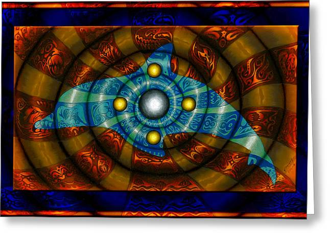 Journey To The Center II Greeting Card