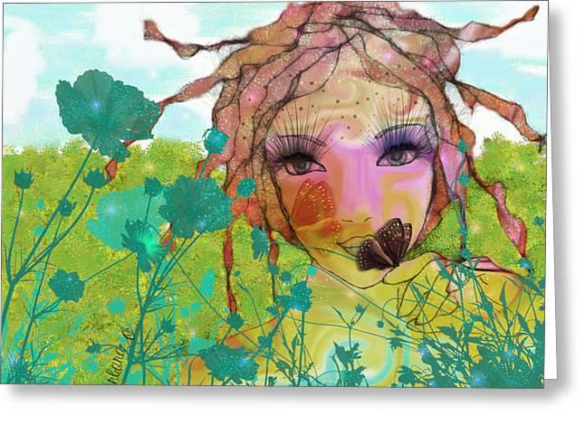 Greeting Card featuring the digital art Joy by Barbara Orenya