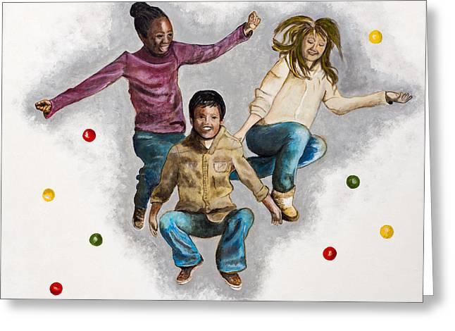Joy By Marcia Lillianthal Greeting Card by Sheldon Kralstein