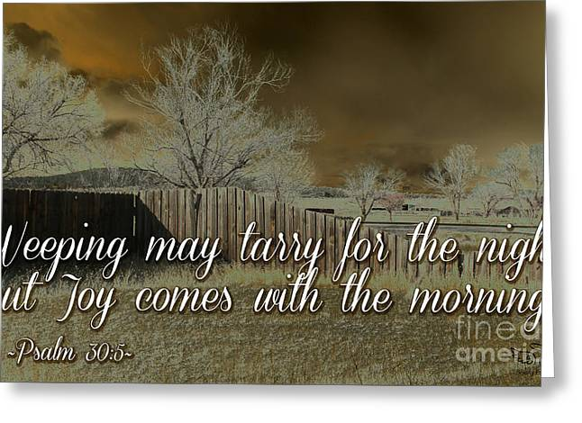 Joy In The Morning Greeting Card