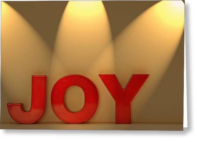 Joy Greeting Card by Leah Hammond