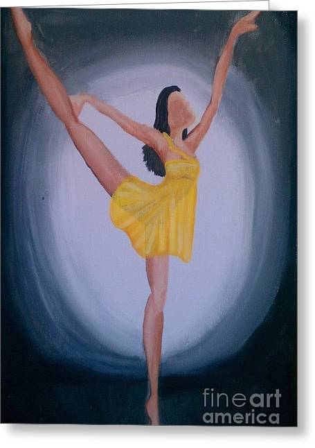 Greeting Card featuring the painting Joy by Marisela Mungia