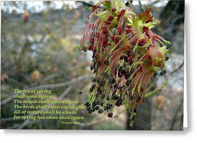 Joy Of Spring Greeting Card by Kathy Bassett