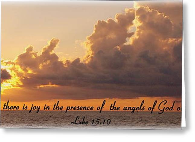 Joy Of The Angels Greeting Card by Sheri McLeroy