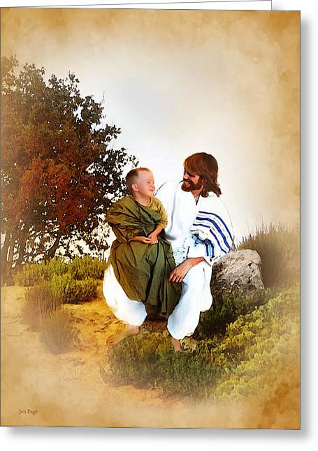 Joy Of The Lord Greeting Card by Jennifer Page