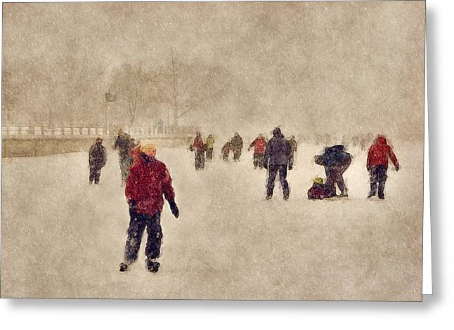 Joy Of Winter Greeting Card by Celso Bressan
