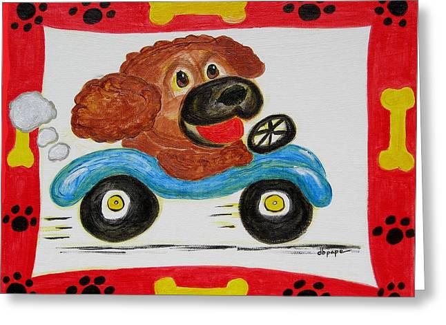 Joy Ride Greeting Card by Diane Pape