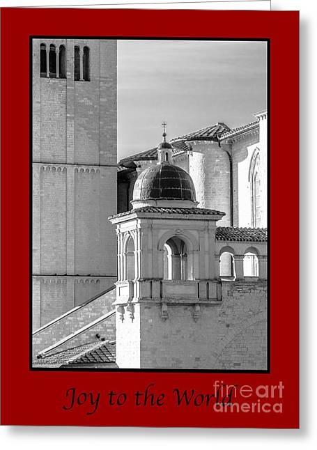 Joy To The World With Basilica Details Greeting Card by Prints of Italy