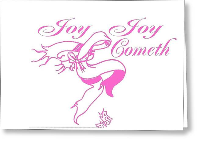 JOY Greeting Card by Tony Curtis