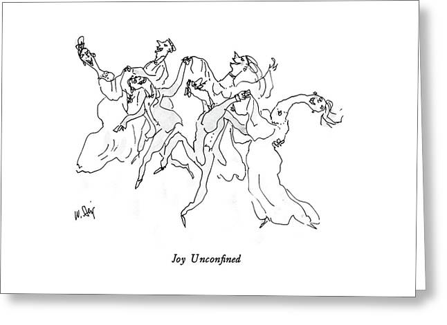 Joy Unconfined Greeting Card