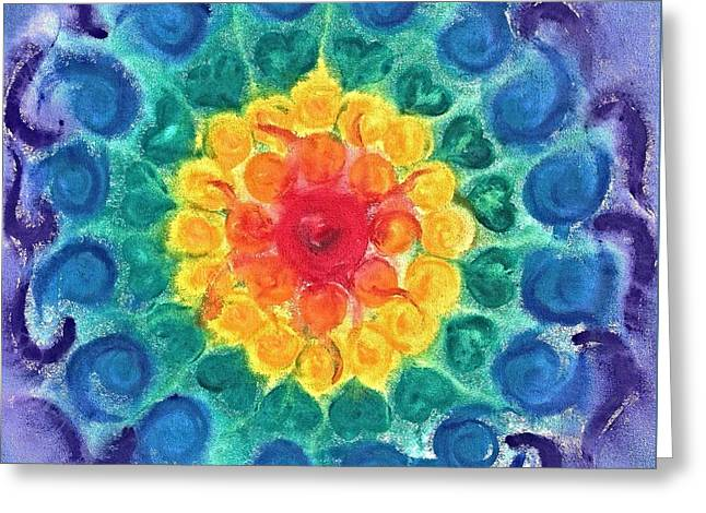 Joyful Chakra Greeting Card by Christine Kfoury