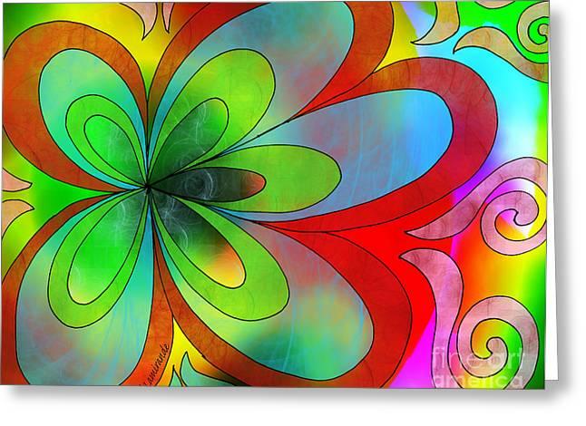 Joyful Peace - Paix Joyeuse Greeting Card by Louise Lamirande