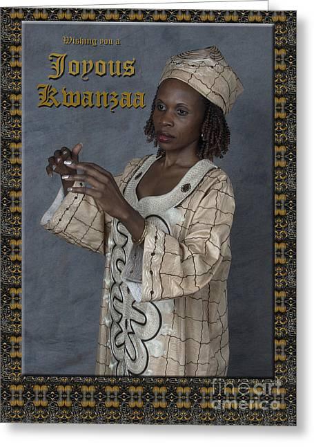 Joyous Kwanzaa  Photo Greeting Card Greeting Card by Andrew Govan Dantzler