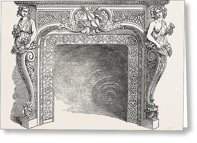 J.p. Vaudre, Chimney Piece Of Iron Greeting Card
