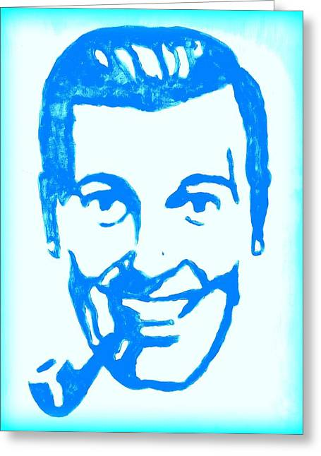 J.r. Bob Dobbs Pop Art Church Subgenius Greeting Card