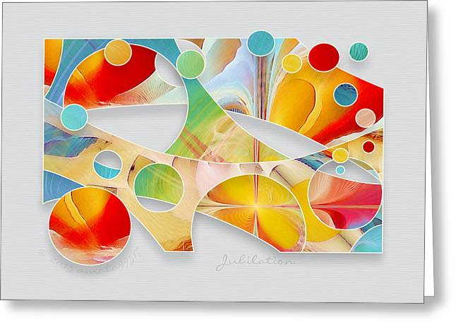 Jubilation Greeting Card by Gayle Odsather