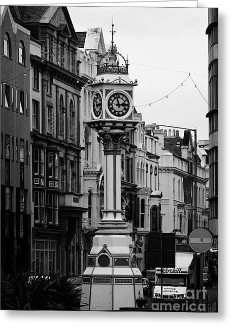 Jubilee Clock For Queen Victorias Golden Jubilee Douglas Isle Of Man Greeting Card by Joe Fox