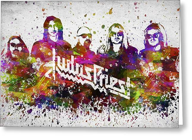 Judas Priest In Color Greeting Card