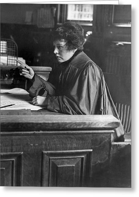 Judge Carroll Mccomas Greeting Card by Underwood Archives