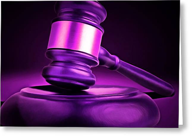 Judges Gavel 20150225m90 Square Greeting Card by Wingsdomain Art and Photography