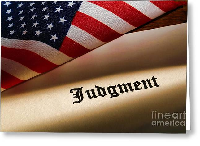Judgment Greeting Card by Olivier Le Queinec